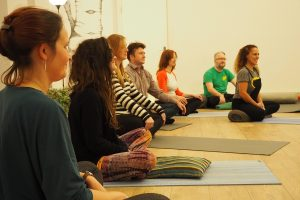 Group of people enjoying a mindfulness course with Mindfulness Liverpool